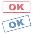 ok textile stamps vector image vector image