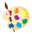 palette brush vector image vector image