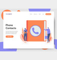 phone contacts concept vector image