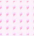 pink heart seamless background doodle double vector image