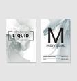 resin art marble grey smoke ripples agate vector image vector image