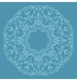 Round lacy pattern on blue background vector image