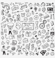 school education doodle set pencil drawings vector image vector image