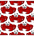 seamless pattern a cute happy red crab vector image vector image