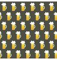 Seamless pattern glass beer mug on a brown vector image