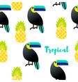 seamless pattern tropical vector image