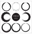 set of hand drawn circles design elements vector image vector image