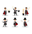 set of magicians vector image vector image
