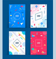 set of neo memphis style covers vector image vector image