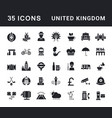 set simple icons united kingdom vector image vector image
