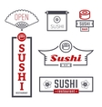 Signs sushi vector image vector image