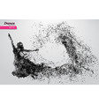 silhouette of a dancing girl from particle dancer vector image vector image