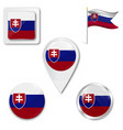 slovakian flag in wind vector image vector image