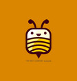 smile bee vector image