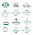Spa beauty and body care logo templates