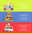 street food festival flyers set vector image