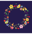 Summer and autumn circle with fllowers vector image vector image