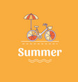 summer with a bicycle vector image vector image