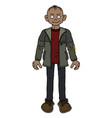 the funny boy in a jacket vector image vector image