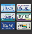 united states license plates vintage collection vector image