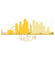 usa city skyline golden silhouette vector image vector image