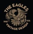vintage eagle bird wing annimal usa america vector image vector image