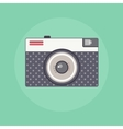 Vintage Retro camera color flat vector image vector image