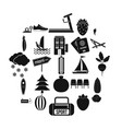 water sports icons set simple style vector image vector image
