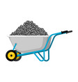 wheelbarrow and ethereum cryptocurrency in garden vector image
