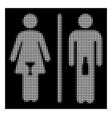 white halftone wc persons icon vector image vector image