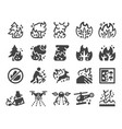 wildfire icon set vector image vector image