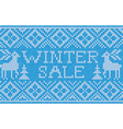 Winter sale Scandinavian style seamless knitted vector image