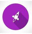 Rocket icon vector image