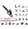 icon set tools vector image