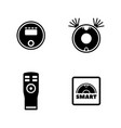 robot vacuum cleaner simple related icons vector image
