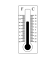 Thermometer icon Weather sign vector image