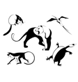 Decor animal silhouette vector image