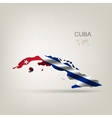 Flag of Cuba as a country vector image
