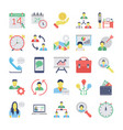 human resources flat colored icons set 2 vector image