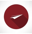 paper airplane icon vector image
