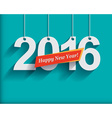 2016 White Paper Origami card or background Happy vector image vector image