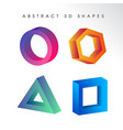abstract 3d shape background vector image vector image