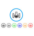 analysis glassware rounded icon vector image vector image
