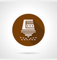 automatic laser cutter brown round icon vector image