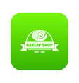 bakery shop icon green vector image vector image