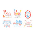 bashower invitation templates set cute holiday vector image