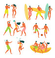 beach people real vector image