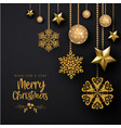 black merry christmas background vector image vector image