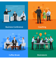 Business Meeting Concept Icons Set vector image vector image