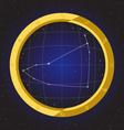 capricorn star horoscope zodiac in fish eye vector image vector image